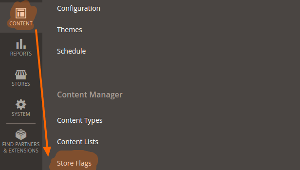 manage flags in the BO